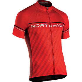Northwave Logo Kid 3 Kortärmad cykeltröja Barn röd/svart